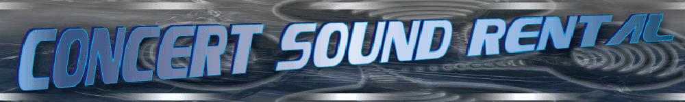 Concert Sound Rental